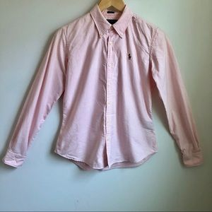 Ralph Lauren pink and white stripe button down